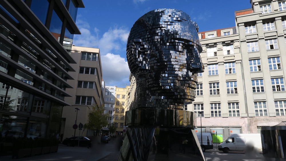 The Franz Kafka Sculpture